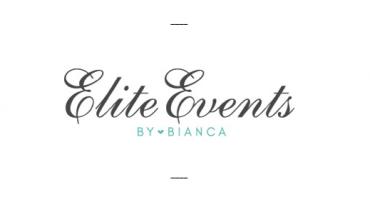 Elite Events by Bianca, logo design